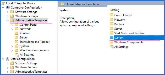 write-protection-Administrative Templates