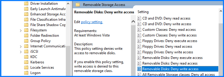 write-protection-Removable Disks